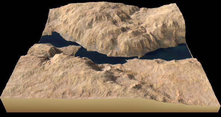 Terrain using warp and blur nodes