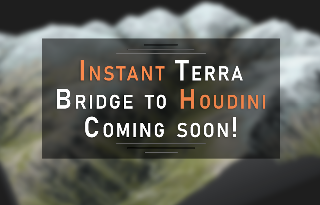 Bridge to Houdini for your terrain